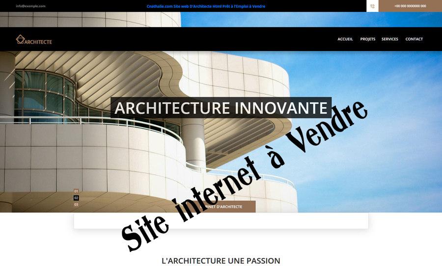 Cnathalie : Site Internet Prêt à l'Emploi de Cabinet D'Architecte (Architecture, Architecte) en Vente