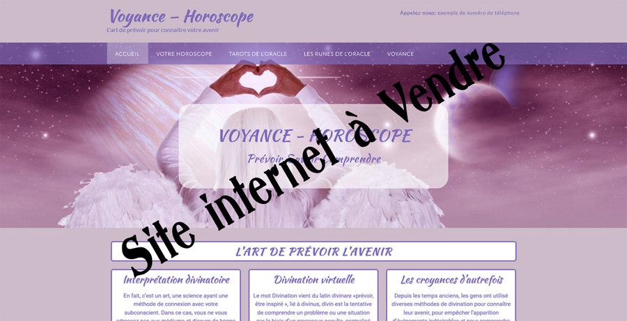 VENTE SITE WEB PRÊT À L'EMPLOI DE VOYANCE EN LIGNE